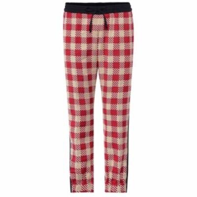 ドリス ヴァン ノッテン Dries Van Noten レディース ボトムス・パンツ Plaid cotton pants Red