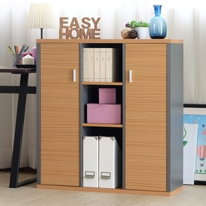 【EASY HOME】加厚九格雙門收納書櫃