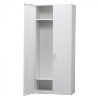 豊國工業 壁面収納庫深型ワードローブ ホワイト HOS-HRWN BN-90色(ホワイト) 書庫