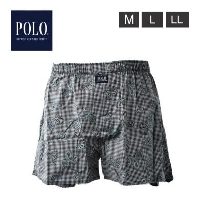 POLO ポロ トランクス 紳士 メンズ 肌着 下着 パンツ おしゃれ 前あき スタイリッシュ ゆとり 綿100% 2個までメール便可
