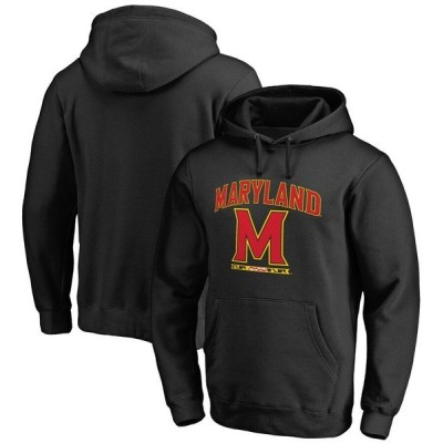 ファナティクス パーカー・スウェットシャツ アウター メンズ Maryland Terrapins Fanatics Branded Team Lockup Pullover Hoodie Black