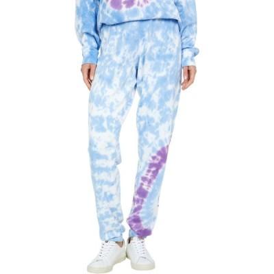 ローレンモシ Lauren Moshi レディース スウェット・ジャージ ボトムス・パンツ Tanzy Peace Happy Face Tie-Dye Boyfriend Sweatpants Berry Bliss
