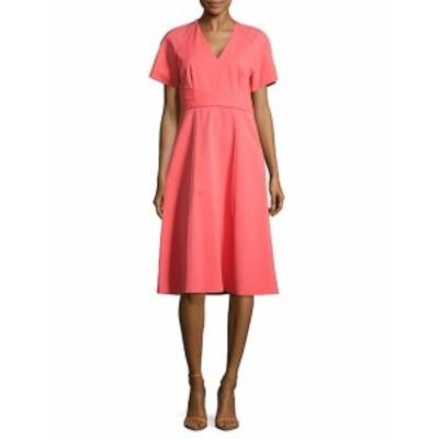 ラファイエット148ニューヨーク レディース ワンピース Kaylee Solid V-Neck Dress