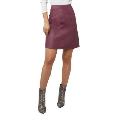 エーエスバイディーエフ レディース スカート ボトムス Carly A-Line Leather Skirt