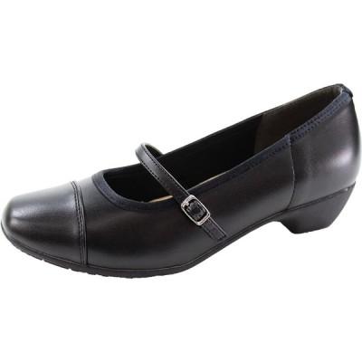 (リフレッシュウォーク) REFRESH WALK 1979 レディース パンプス シューズ 靴 (23.0cm, ブラック/ブラック)