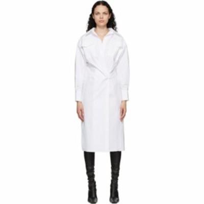 プロエンザ スクーラー Proenza Schouler レディース ワンピース シャツワンピース ワンピース・ドレス White Cotton Poplin Shirt Dress