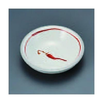 粉引赤絵唐辛子3.3皿 332-08-084