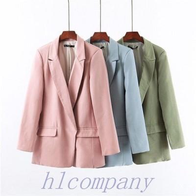 テーラードジャケットレディーススーツジャケット無地ゆったりOLアウターフォーマルジャケットスーツ上着通勤ビジネスセレモニー20代30代