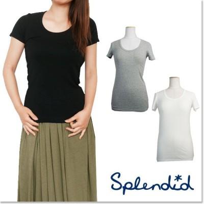 [30%off Sale]Splendid スプレンディッド Uネック  カットソー Tシャツ  トップス半袖  レディース STAG1614/STAG1614G