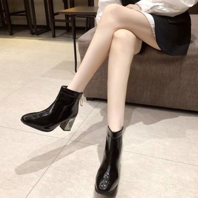 ロディック Rodic レディース ブーツ ショート 靴 ブーツ ブーティー スクエアトゥ 秋冬 ショート (ブラック)