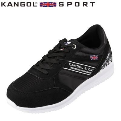 カンゴールスポーツ KANGOL SPORT KG4129 メンズ   スニーカー   大きいサイズ対応   軽量 軽い   ブラック
