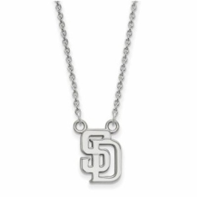 LogoArt ロゴアート アクセサリー ジュエリー San Diego Padres Womens Small Logo Sterling Silver Pendant Necklace