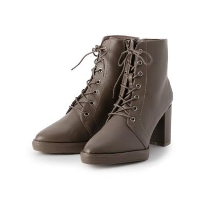 ESPERANZA / ミドルヒールレースアップショートブーツ WOMEN シューズ > ブーツ