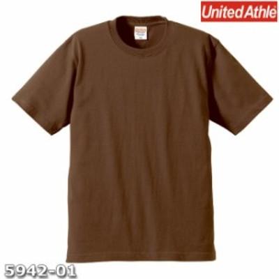 Tシャツ 半袖 メンズ プレミアム 6.2oz XS サイズ D ブラウン 無地 ユナイテッドアスレ CAB