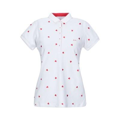 サンシックスティエイト SUN 68 ポロシャツ ホワイト L コットン 95% / ポリウレタン 5% ポロシャツ