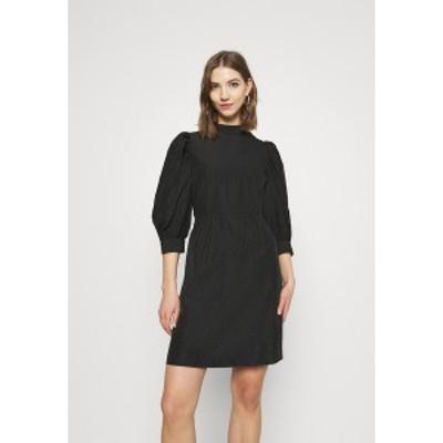 ヴェロモーダ レディース ワンピース トップス VMSILJE HIGH NECK SHORT DRESS - Day dress - black black