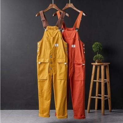 4色  メンズサロペット   オーバーオール  つなぎ オールインワン ペインター   サスペンダーズボン ワークパンツ   個性  作業服