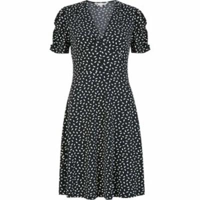ユミ Yumi レディース ワンピース ワンピース・ドレス Black Dash Print Jersey Tea Dress Black Black