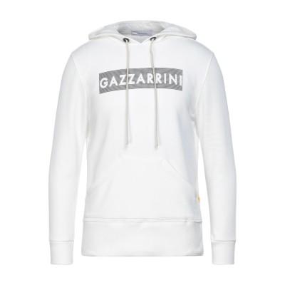 GAZZARRINI スウェットシャツ ホワイト M コットン 100% スウェットシャツ