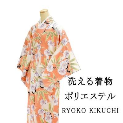 洗える着物R・KIKUCHI 洗える着物 ポリエステル小紋 L寸 新品 着物
