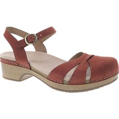 ダンスコ サンダル シューズ レディース Betsey Closed Toe Sandal (Women's) Cinnamon Milled Nubuck