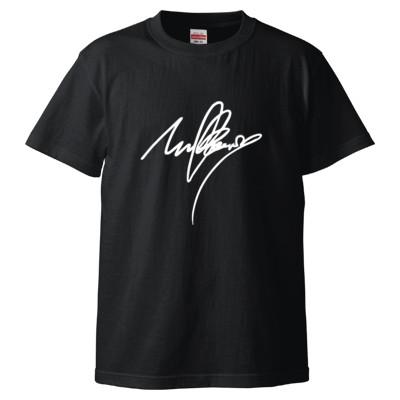 mulberry(サイン)Tシャツ文字白(Tシャツ)(カラー : ブラック, サイズ : S)