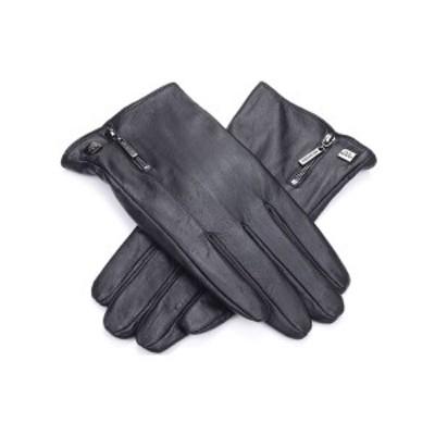 ミオマリオ メンズ 手袋 アクセサリー Men's Nappa Leather Gloves Black