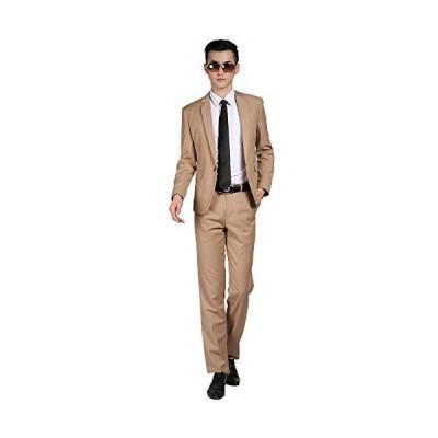 Victory Man(ビクトリー メンズ)スーツセット メンズ ビジネススーツ 1つボダン ジャケット 上下セットスーツ スリム 光沢あり