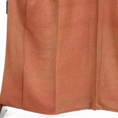 【中古】リサイクル着物 小紋 / 正絹赤茶地染鹿の子袷小紋着物 / レディース【裄Mサイズ】(古着 リサイクル品 小紋 )