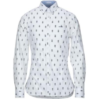 ゲス GUESS メンズ シャツ トップス patterned shirt White