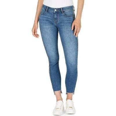 ヌメロ Numero レディース ジーンズ・デニム ボトムス・パンツ Side-Stripe Step-Hem Skinny Jeans Blue Refle