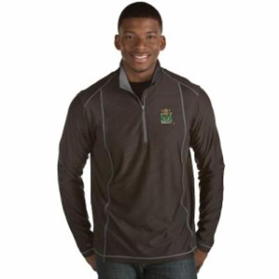 Antigua アンティグア スポーツ用品  Antigua Marshall Thundering Herd Black Tempo 1/2-Zip Desert Dry Pullover Jacket