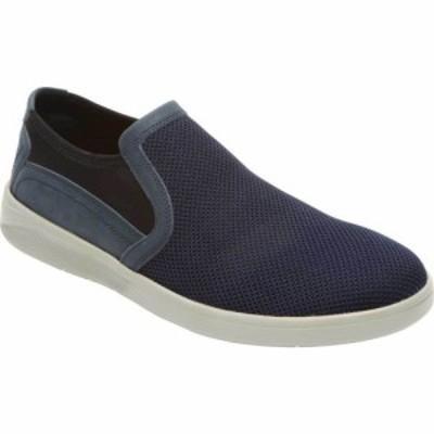 ロックポート Rockport メンズ スリッポン・フラット シューズ・靴 Caldwell Twin Gore Slip On Navy Mesh/Leather