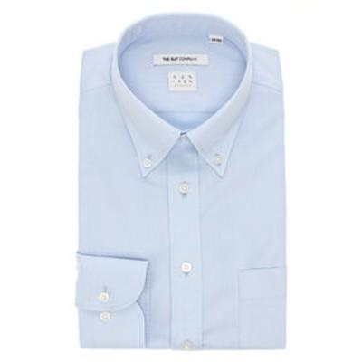【NON IRON STRETCH】ボタンダウンカラードレスシャツ 織柄 〔EC・FIT〕