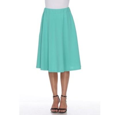 ホワイトマーク スカート ボトムス レディース Saya Flare Skirt Mint