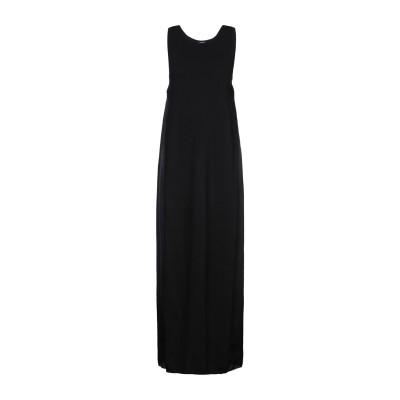 ブルーガール ブルマリン BLUGIRL BLUMARINE ロングワンピース&ドレス ブラック 42 レーヨン 80% / ナイロン 20% ロン
