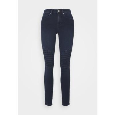 レディース ジーンズ ONLROYAL LIFE BIKER - Jeans Skinny Fit - dark blue denim