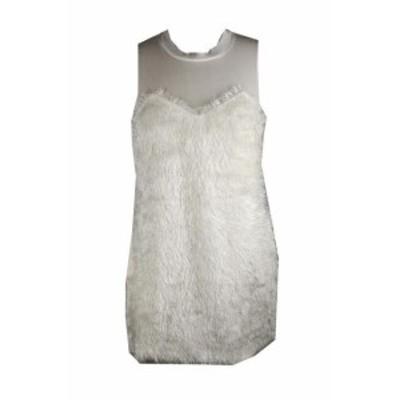 Rachel  ファッション ドレス Rachel Rachel Roi Ivoire Texture sans Manche Robe M