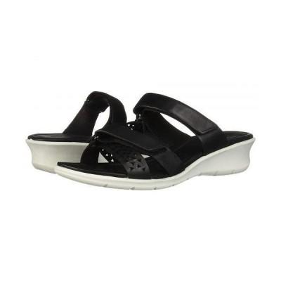 ECCO エコー レディース 女性用 シューズ 靴 ヒール Felicia Slide Sandal - Black Cow Nubuck