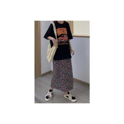 【送料無料】年 夏 韓国風 ファッション ルース プリント半袖 シャツ ハイウエスト | 364331_A63254-5178680