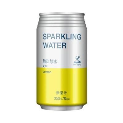 送料無料 富永貿易 神戸居留地 スパークリングウォーター レモン 350ml缶×24本入