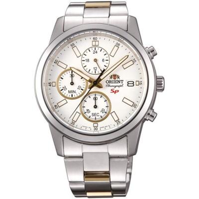 オリエント 腕時計 メンズ クロノグラフ ホワイト シルバー FKU00001W0 ORIENT 並行輸入品