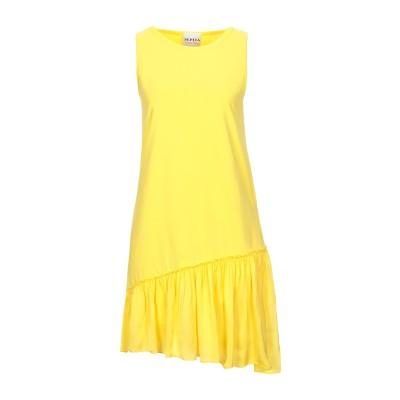 PEPITA ミニワンピース&ドレス イエロー 40 コットン 100% / レーヨン / レーヨン ミニワンピース&ドレス