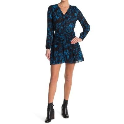 パーカー レディース ワンピース トップス Zee Silk Blend Pleated Dress RAINSTORM