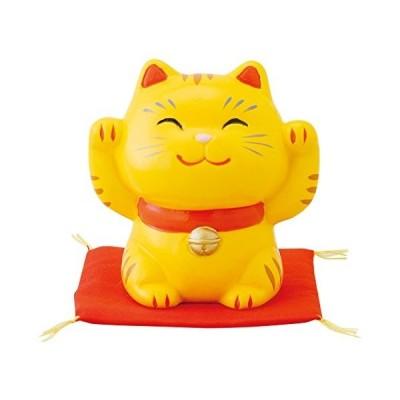 昭峰作 幸せ 招き猫 特小 とら 両手上げ SN-006