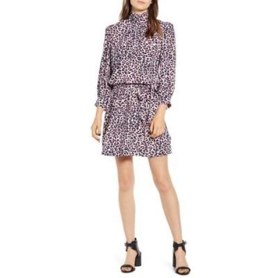 ザディグ エ ヴォルテール レディース ワンピース トップス Rivali Leopard Print Mock Neck Dress ECRU