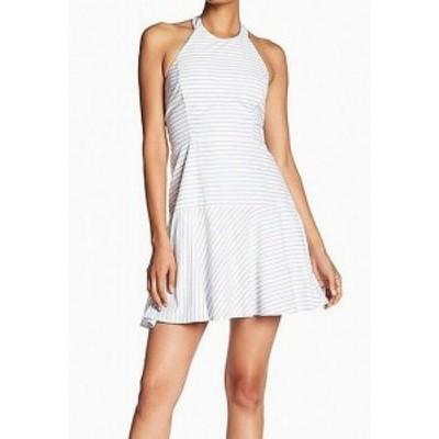 Parker パーカー ファッション ドレス Parker NEW White Womens Size XS Stripe Halter Cutout Back A-Line Dress