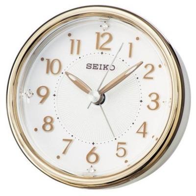 SEIKO セイコー 目覚まし時計 アナログ ELバックライト 銅色 KR897B【お取り寄せ】