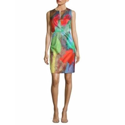 ミリー レディース ワンピース Notch Print Sheath Dress