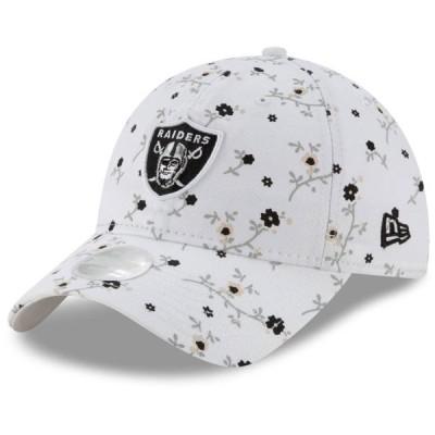 レディース スポーツリーグ フットボール Las Vegas Raiders New Era Women's Blossom 9TWENTY Adjustable Hat - White - OSFA 帽子
